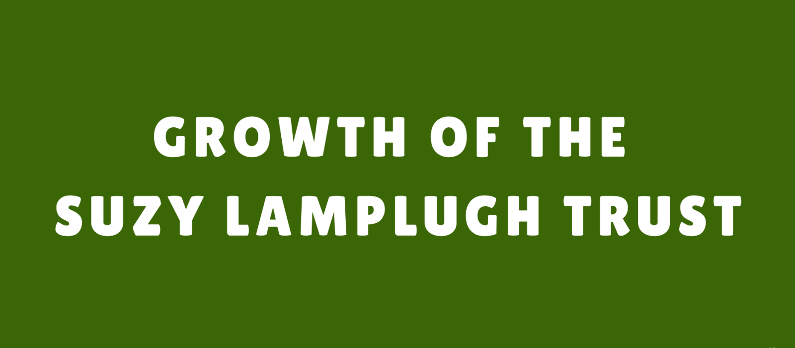 Join the growing team at the Suzy Lamplugh Trust